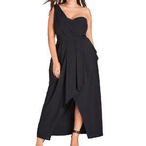 CITY CHIC One-shoulder Asymmetrical Maxi Dress